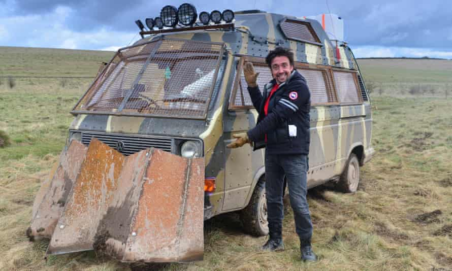 Richard Hammond with something probably about to go wrong.