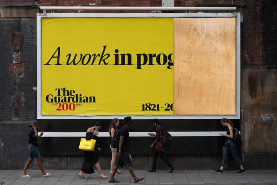 The Guardian 200th anniversary advertising creative 'A work in progress'