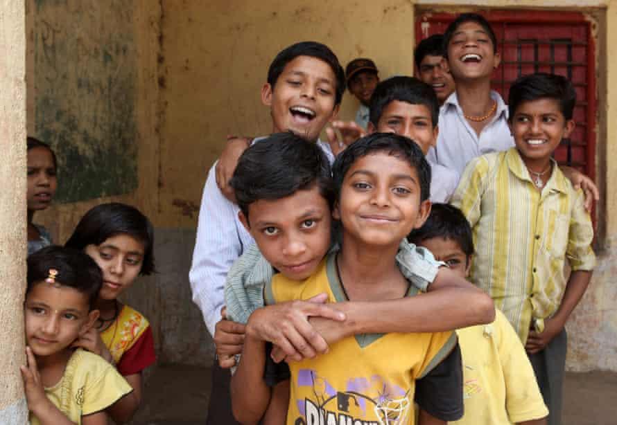 Children from Anvi village in the Jalna district of Maharashtra