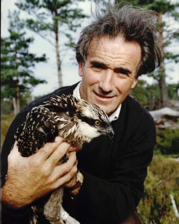 Dennis with an osprey in 1990.