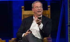 eric schmidt with two smartphones