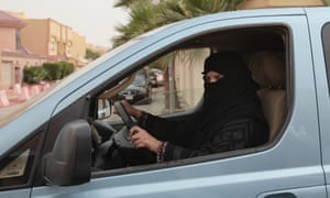 Unequal opportunities: a woman defies Saudi Arabia's implicit ban on female drivers.