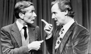 Kenneth Williams (left) and Nicholas Parsons in 1981