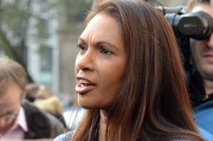Gina Miller, the businesswoman at the centre of the high court case, speaks after the judgment on Thursday.