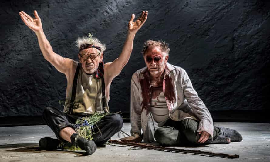 Sir Ian McKellen as King Lear, left, with Danny Webb as Gloucester.
