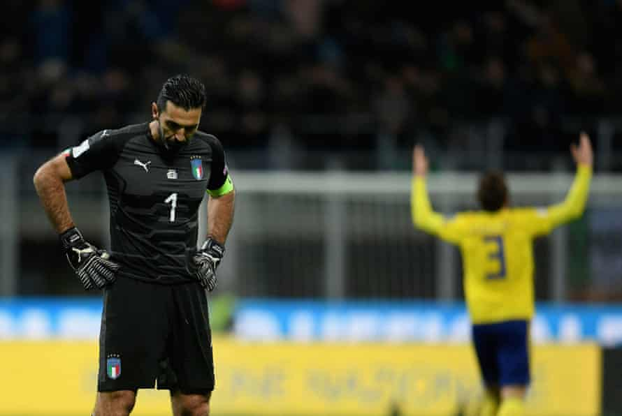 It was a sad end to Gianluigi Buffon's Italy career as Italy failed to reach the World Cup for the first time since 1958