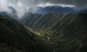the Waiohine Pinnacles in the Tararua Mountains and Forest Park, New Zealand.