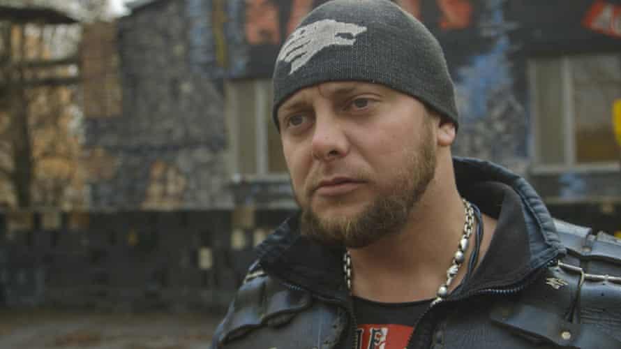 Vitaly 'The Prosecutor' Kishkinov, commander of the Luhansk chapter of the Night Wolves Russian biker gang