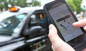 Uber, which allows people to use their cars to offer taxi rides