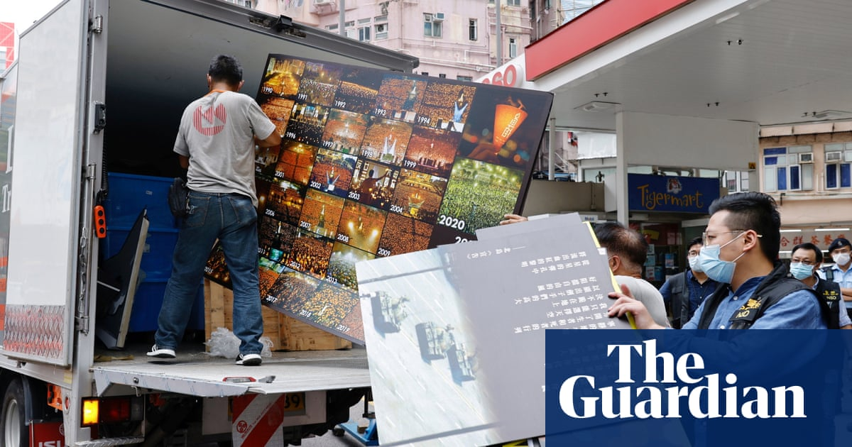 Hong Kong police raid Tiananmen massacre museum