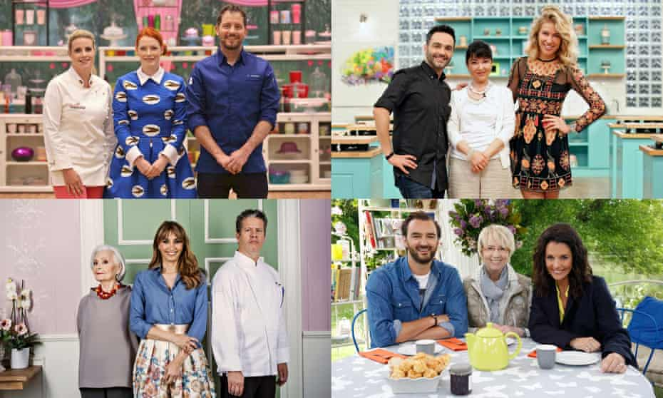 Bake Off has its own versions in (clockwise from top left) Germany, Turkey, France and Italy.