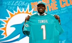 Laremy Tunsil had been tipped as a No1 overall pick in the past