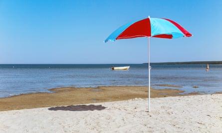 beach umbrella on Vosu beach