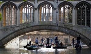 The Bridge of Sighs at St John's College in Cambridge.