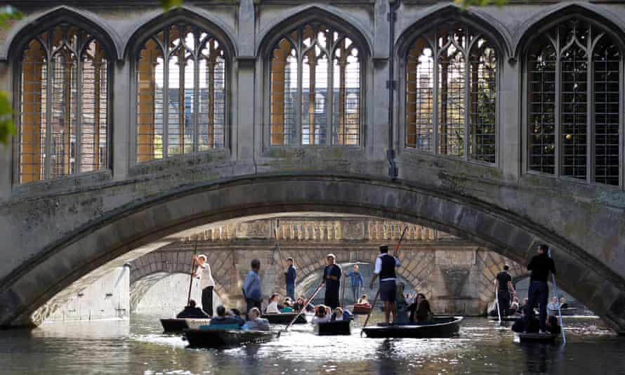 The Bridge of Sighs at St John's College in Cambridge.