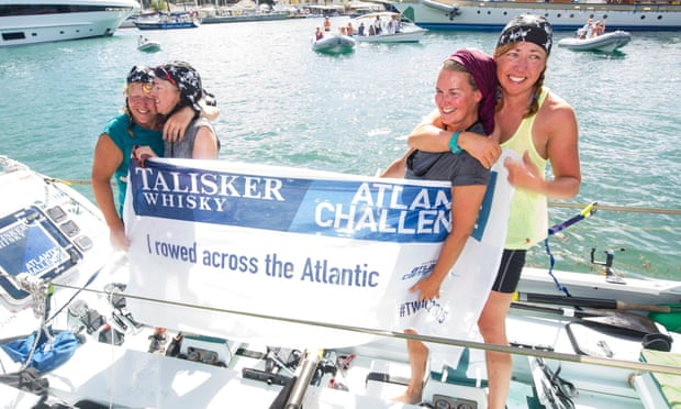 Yorkshire Rows arrive in Antigua to finish the Talisker Whisky Atlantic Challenge and become the oldest female team to have rowed an ocean.