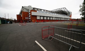 Anfield, where meaningful football may not be played if police get their way.