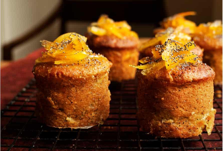 Orange and poppy seed cakes.