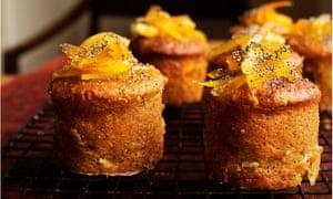 'Wonderful sweet-sharp notes': orange and poppy seed cakes.