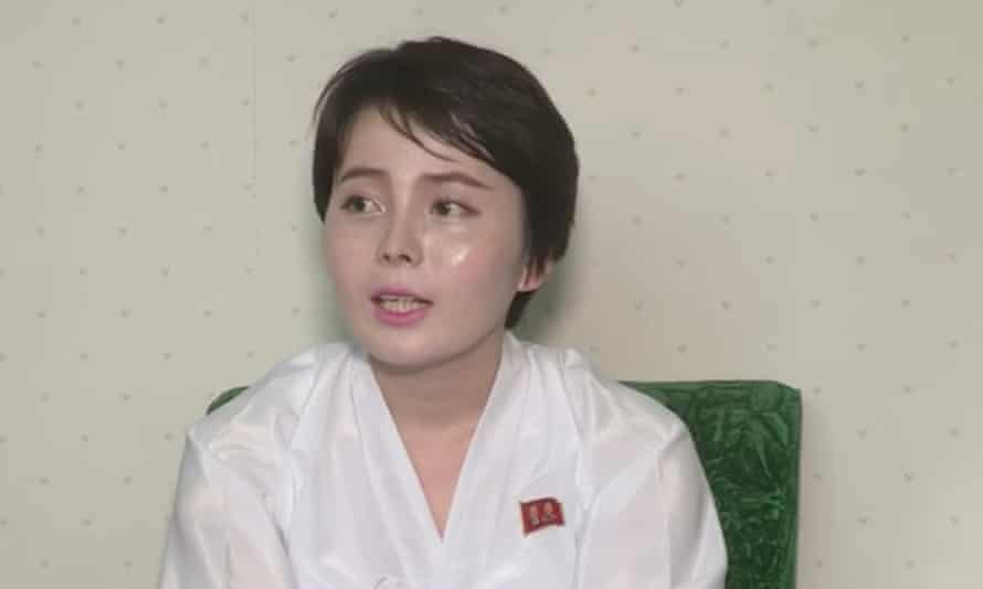 A woman resembling Jeon Hye-sung appeared in a video saying she had 'viciously slandered' North Korea.