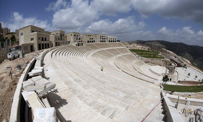 Rawabi's amphitheatre.
