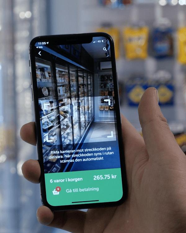 Using a smartphone at an Lifvs shop.