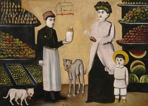 A Tatar Fruiterer by Niko Pirosmani