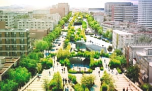 Fernando Romero's unrealised plan for a linear park to be built on Chapultepec Avenue, one of Mexico City's oldest streets.