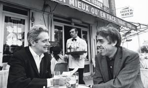 Coutard, right, in Paris with the late Guardian reporter Peter Lennon in 1967; the documentary they made together, Rocky Road to Dublin, premiered at the 1968 Cannes film festival.