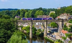 Northern Rail train on the viaduct over the River Nidd,  Knaresborough