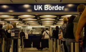 Border controls at Heathrow airport