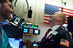 Trader on the floor of the New York Stock Exchange today.