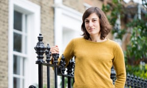 Guardian journalist Paula Cocozza outside her house in Dalston.  Photograph by Felix Clay