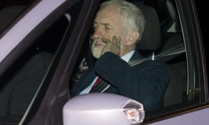 Jeremy Corbyn arriving at Buckingham Palace