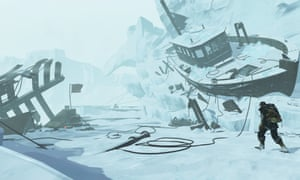 Concept art from Edge of Nowhere, an innovative third-person virtual reality adventure from Insomniac Games