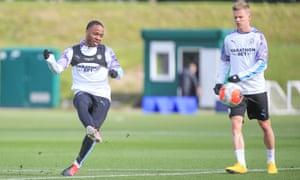 Raheem Sterling training