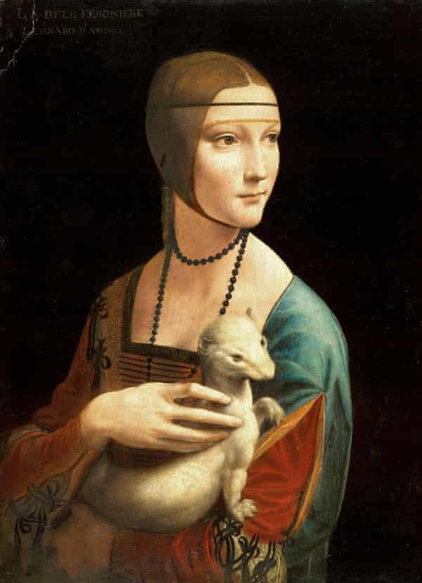 Lady with an Ermine by Leonardo da Vinci, 1489-90