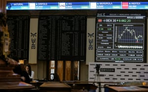 The Spanish stock market in Madrid this morning