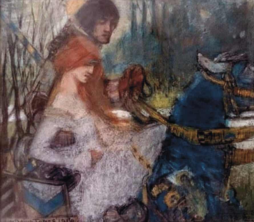 Lancelot and Guinevere, by David Jones, 1916