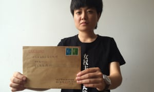 Ma Hu, 25, a feminist activist, has been writing daily letters to China's prime minister Li Keqiang demanding greater rights for women.