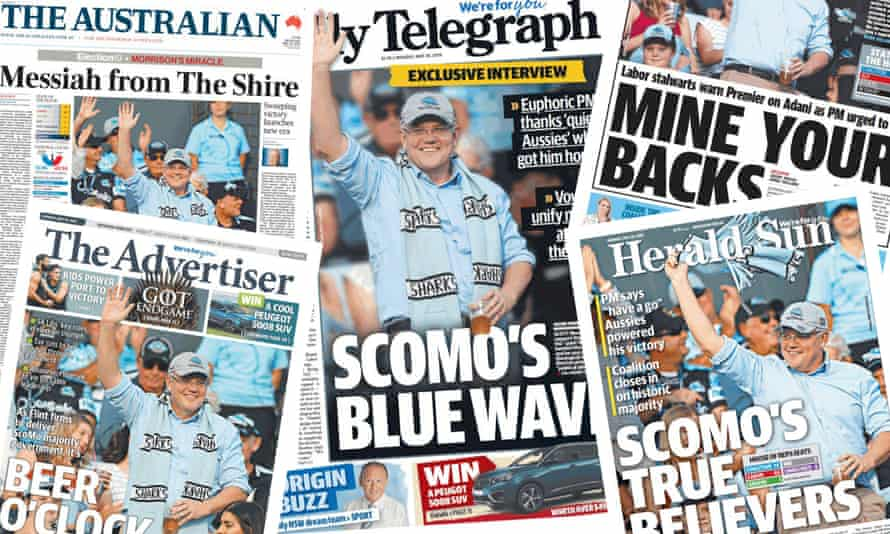 Papers on Scott Morrison after the Coalition wins the 2019 federal election