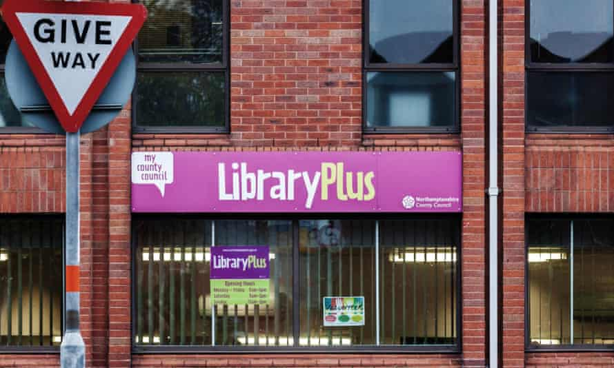 A library in Northamptonshire, where 21 libraries may close to save money.