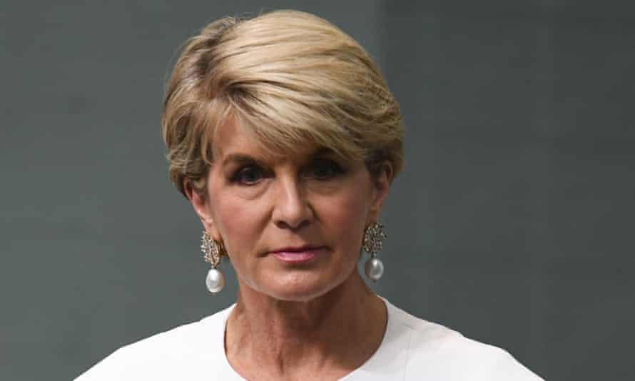 Former Australian foreign minister Julie Bishop