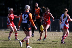 Sarah Assaad of the Auburn Giants during play against the Wollondilly Knights
