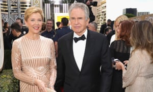 With Warren Beatty at last month's Golden Globes.