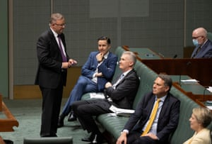 Anthony Albanese looks for a dance partner
