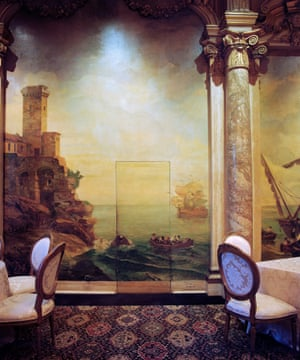 The Dining Room, Mar-a-Lago, Palm Beach, 2015Having access, I couldn't help but wander around Mar-a-Lago and found myself drawn towards this scene. The painting surrounding the secret servant door, remnants of the structure's first owner - heiress Marjorie Merriweather Post in the 1920s - contrasted with the dining room's conference hall style carpet and chairs.