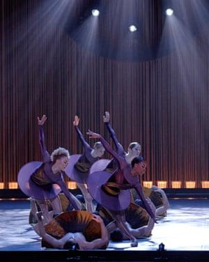 Kiara DeNae Felder, front right, with Les Grands Ballets Canadiens.