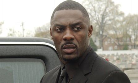 Idris Elba as drug lord Stringer Bell in The Wire.