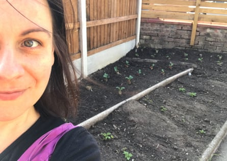 Anna Baatz and her family transformed their front garden to create a vegetable patch.